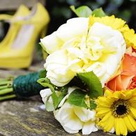 backyard Yellow Wedding Manchester photography