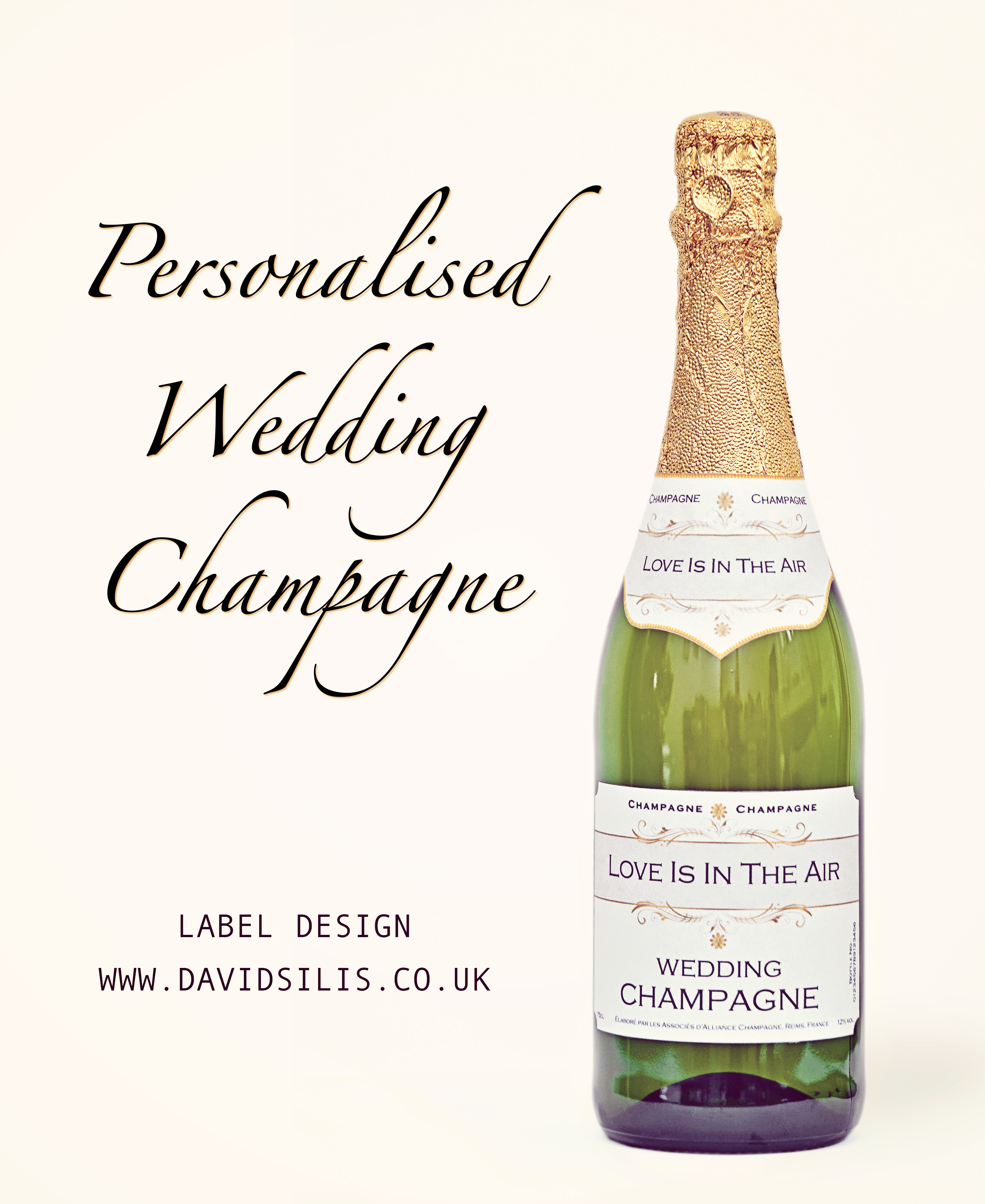 personalised wedding champagne labels professional photography and